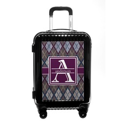 Knit Argyle Carry On Hard Shell Suitcase (Personalized)