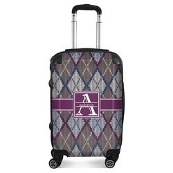 Knit Argyle Suitcase (Personalized)