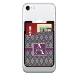 Knit Argyle 2-in-1 Cell Phone Credit Card Holder & Screen Cleaner (Personalized)