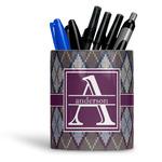 Knit Argyle Ceramic Pen Holder