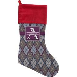 Knit Argyle Christmas Stocking (Personalized)