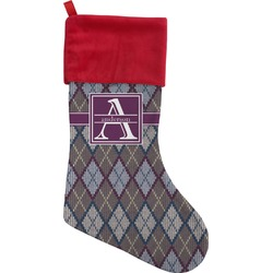 Knit Argyle Christmas Stocking (Personalized)