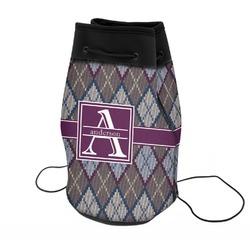Knit Argyle Neoprene Drawstring Backpack (Personalized)