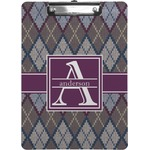 Knit Argyle Clipboard (Personalized)