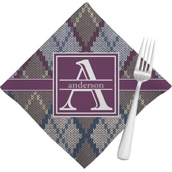 Knit Argyle Cloth Napkins (Set of 4) (Personalized)