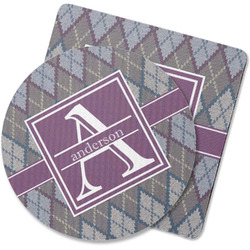 Knit Argyle Rubber Backed Coaster (Personalized)