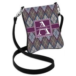 Knit Argyle Cross Body Bag - 2 Sizes (Personalized)