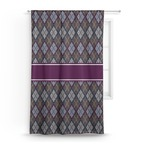 Knit Argyle Curtain (Personalized)