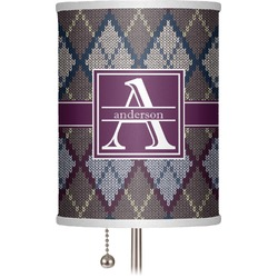 """Knit Argyle 7"""" Drum Lamp Shade (Personalized)"""