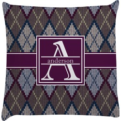 Knit Argyle Decorative Pillow Case (Personalized)