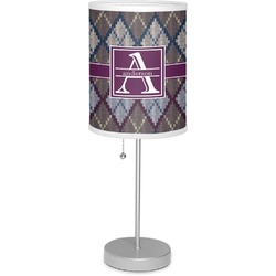 "Knit Argyle 7"" Drum Lamp with Shade (Personalized)"