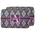 Knit Argyle Dish Drying Mat w/ Name and Initial