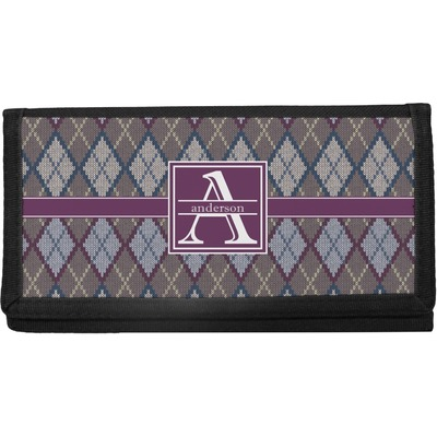 Knit Argyle Canvas Checkbook Cover (Personalized)