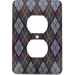 Knit Argyle Electric Outlet Plate (Personalized)