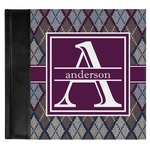 Knit Argyle Genuine Leather Baby Memory Book (Personalized)