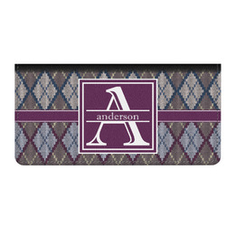 Knit Argyle Genuine Leather Checkbook Cover (Personalized)