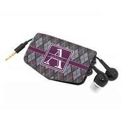Knit Argyle Genuine Leather Cord Wrap (Personalized)