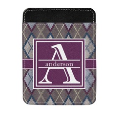 Knit Argyle Genuine Leather Money Clip (Personalized)