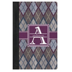 Knit Argyle Genuine Leather Passport Cover (Personalized)