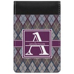 Knit Argyle Genuine Leather Small Memo Pad (Personalized)