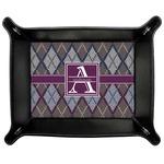 Knit Argyle Genuine Leather Valet Tray (Personalized)
