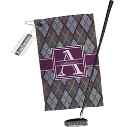 Knit Argyle Golf Towel Gift Set (Personalized)