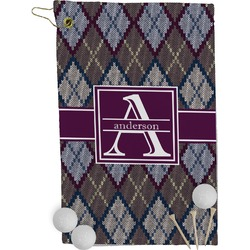 Knit Argyle Golf Towel - Full Print (Personalized)