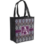 Knit Argyle Grocery Bag (Personalized)