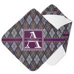 Knit Argyle Hooded Baby Towel (Personalized)