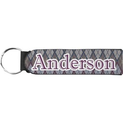 Knit Argyle Neoprene Keychain Fob (Personalized)