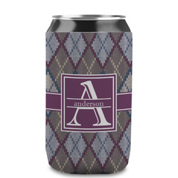 Knit Argyle Can Sleeve (12 oz) (Personalized)