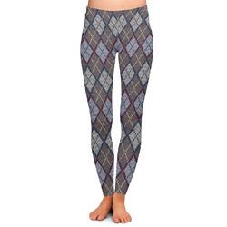 Knit Argyle Ladies Leggings - Extra Large (Personalized)