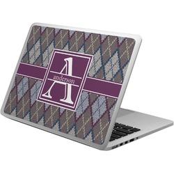 Knit Argyle Laptop Skin - Custom Sized (Personalized)