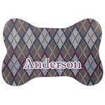 Knit Argyle Bone Shaped Dog Food Mat (Personalized)