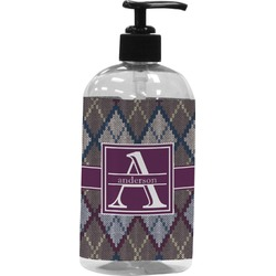 Knit Argyle Plastic Soap / Lotion Dispenser (Personalized)
