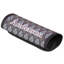 Knit Argyle Luggage Handle Cover (Personalized)