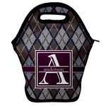 Knit Argyle Lunch Bag (Personalized)