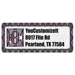 Knit Argyle Return Address Label (Personalized)
