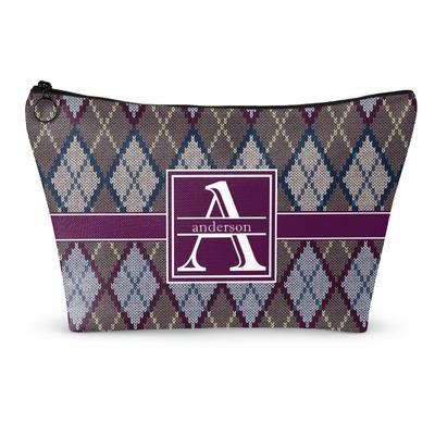 Knitting Pattern Makeup Bag : Knit Argyle Makeup Bag - Small - 8