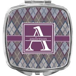 Knit Argyle Compact Makeup Mirror (Personalized)