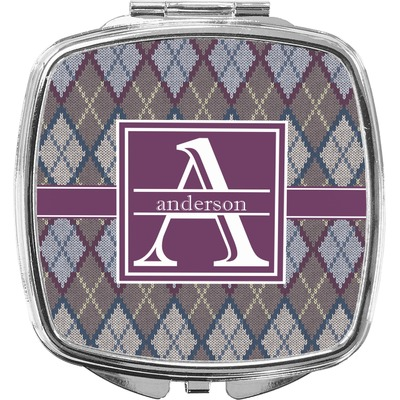 Knit Argyle Compact Makeup Mirror (Personalized)