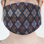 Knit Argyle Face Mask Cover (Personalized)