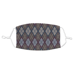 Knit Argyle Adult Cloth Face Mask (Personalized)