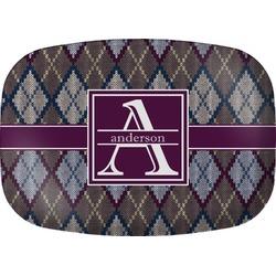 Knit Argyle Melamine Platter (Personalized)