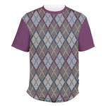 Knit Argyle Men's Crew T-Shirt (Personalized)