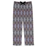 Knit Argyle Mens Pajama Pants (Personalized)