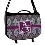Knit Argyle Messenger Bag (Personalized)