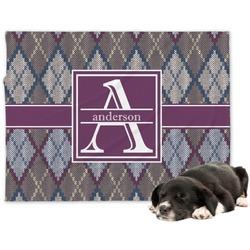 Knit Argyle Minky Dog Blanket (Personalized)