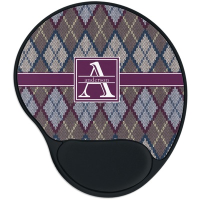 Knit Argyle Mouse Pad with Wrist Support
