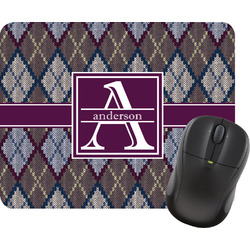 Knit Argyle Rectangular Mouse Pad (Personalized)